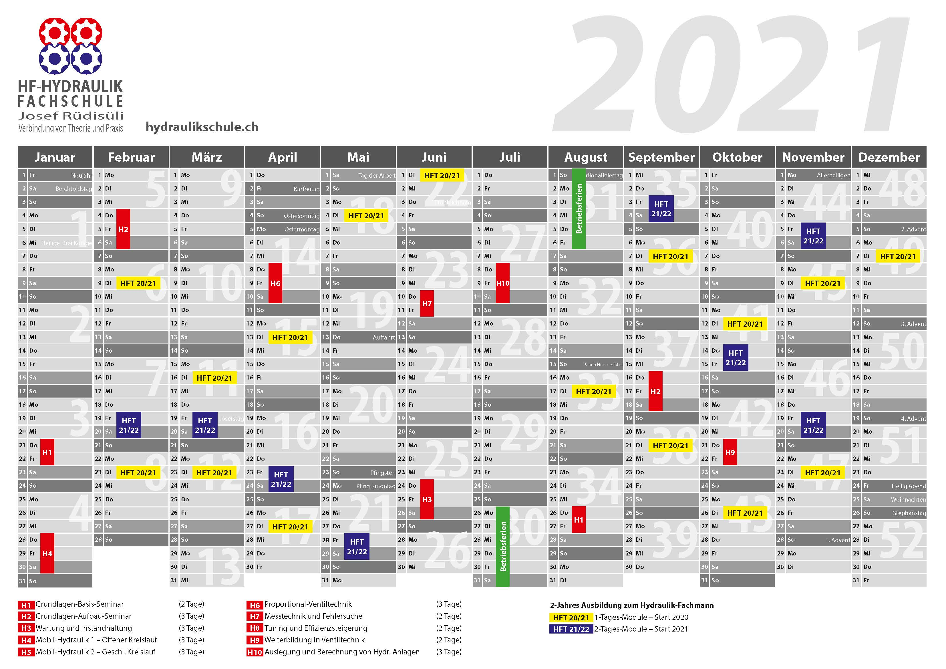 Seminardaten 2020